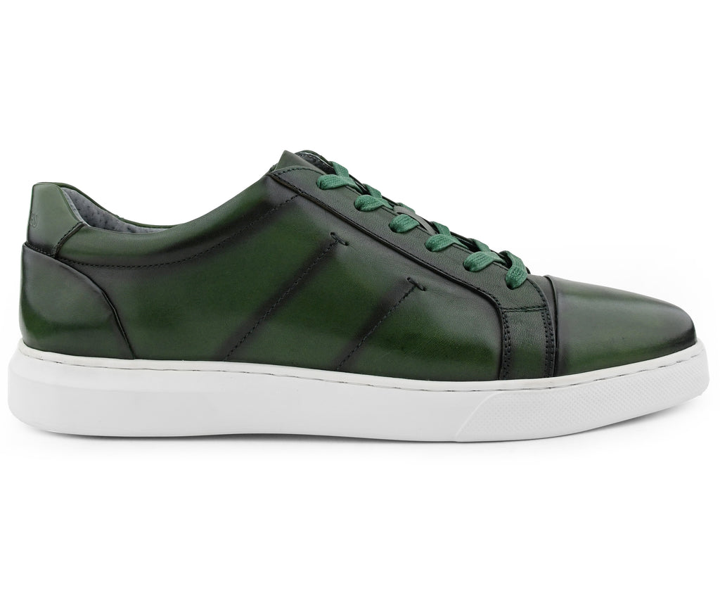 Grass Green Leather Sneaker