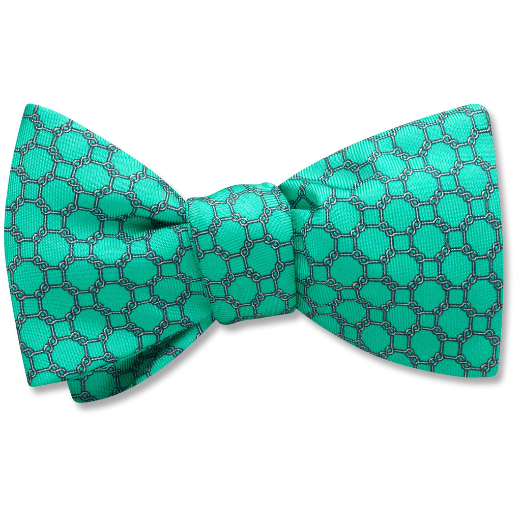 Hedron Mint bow ties