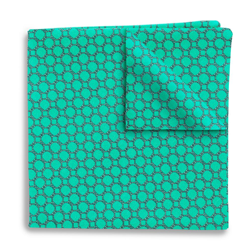 Hedron Mint Pocket Squares