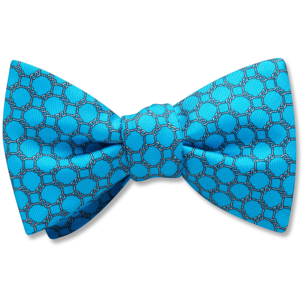 Hedron Turquoise bow ties