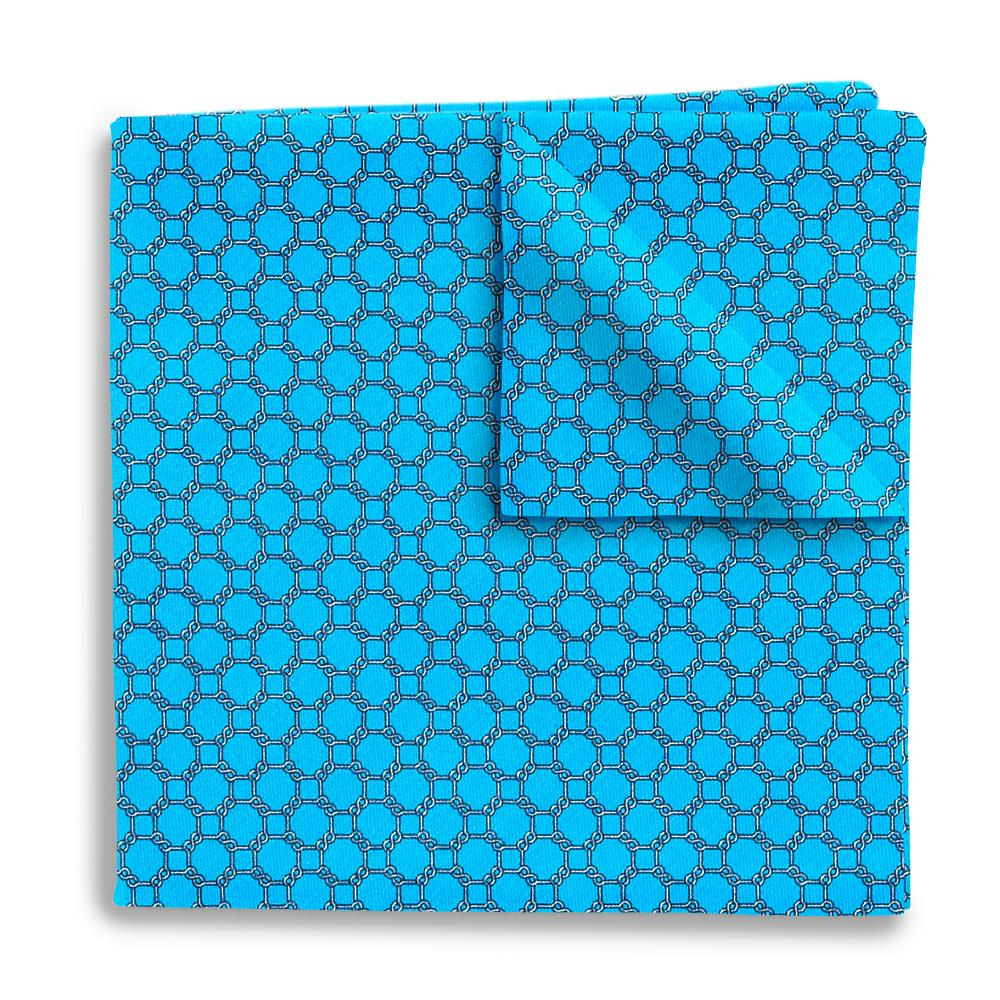 Hedron Turquoise Pocket Squares