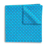 Hedron Turquoise - Pocket Squares