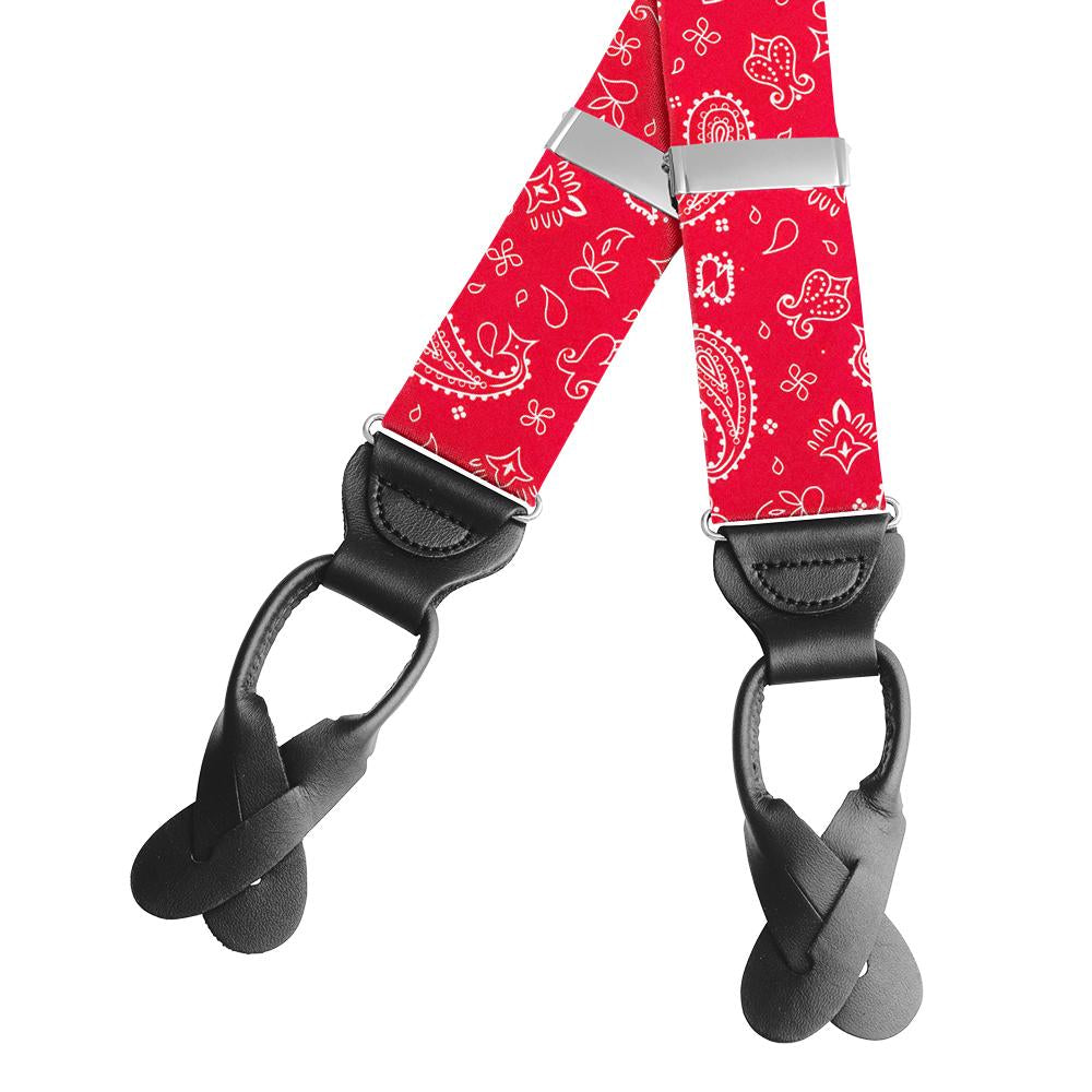 Hankie Red Braces/Suspenders