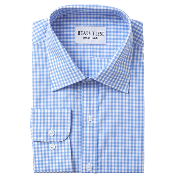 Light Blue Gingham Dress Shirt