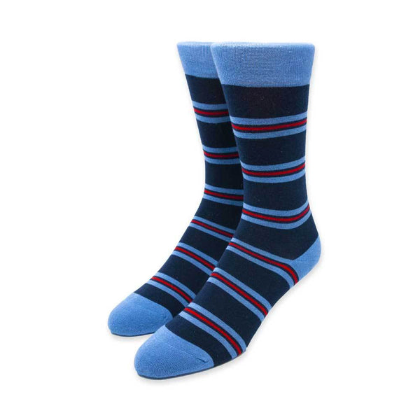 Navy Blue Stripe Socks