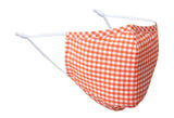 Orange Gingham Face Mask
