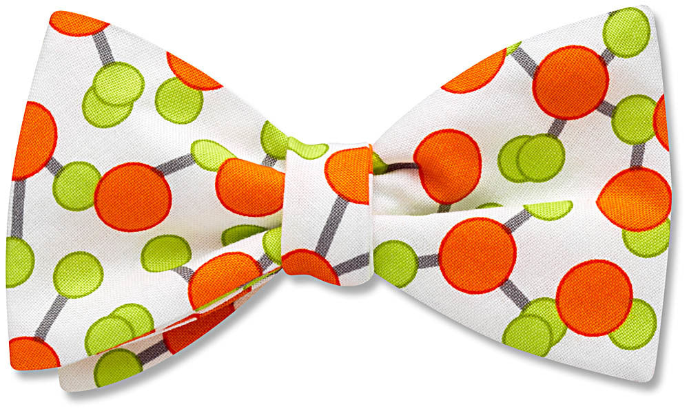 Orange Molecule - bow tie