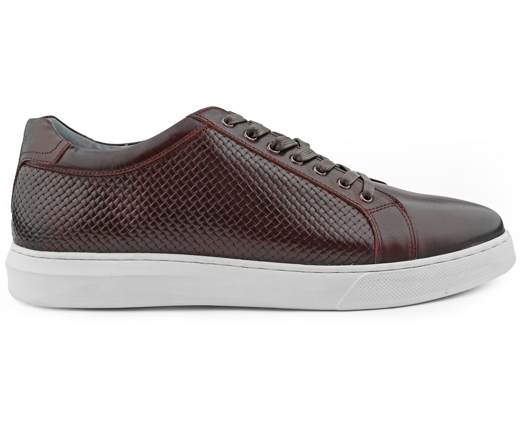 Oxblood Red Leather Sneaker