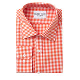 Orange Gingham Dress Shirt