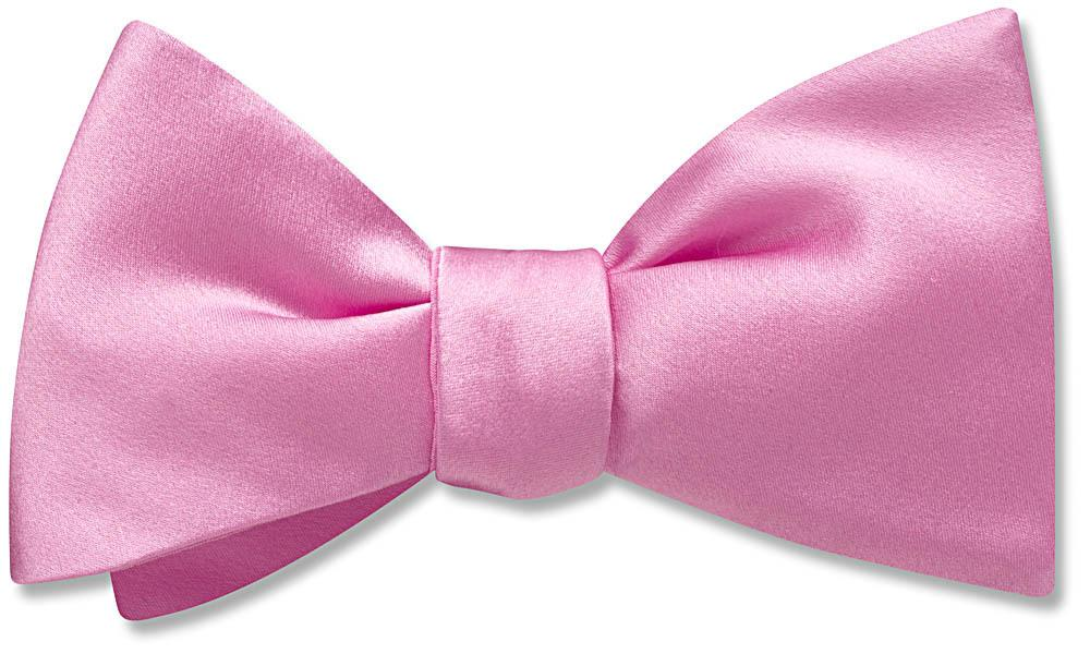 Pink Charmeuse - bow ties