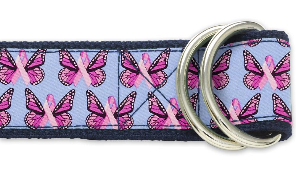 Papillon Pink - D-Ring Belts