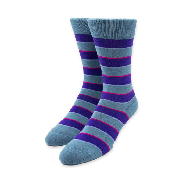Purple and Blue Stripe Socks