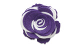Collegiate Purple/White Twist - Beau Fleur Boutonniere