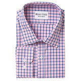 Pink & Blue Gingham Dress Shirt