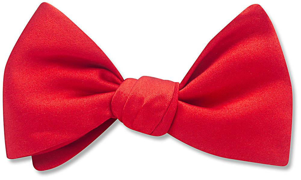 Red Charmeuse - bow ties