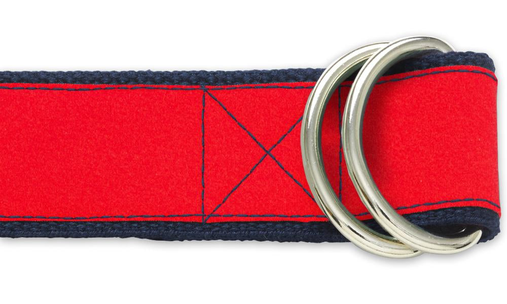 Red Charmeuse - D-Ring Belts
