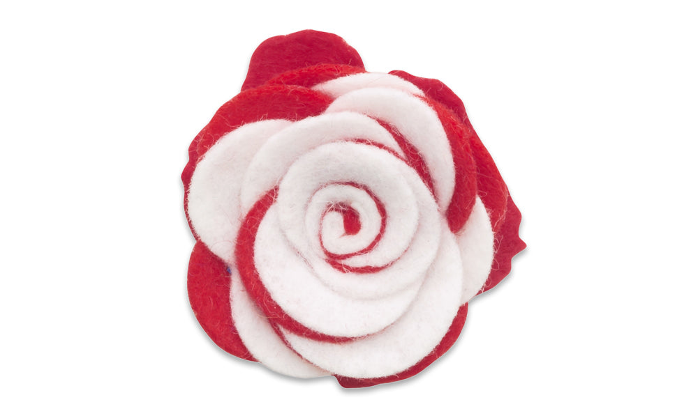 Collegiate Red/White Twist - Beau Fleur Boutonniere