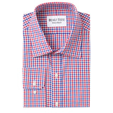 Red & Blue Gingham Dress Shirt