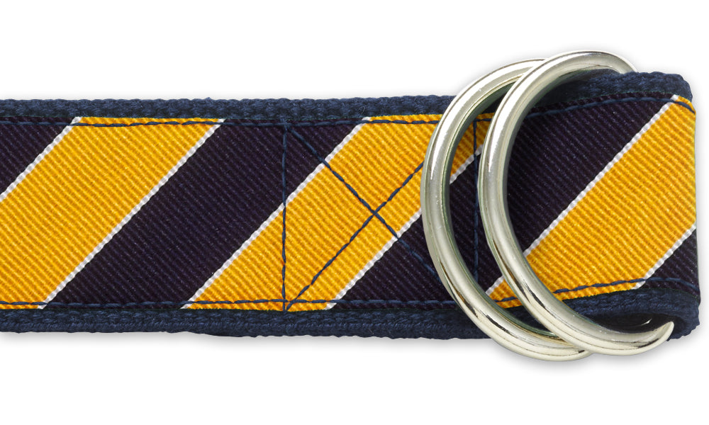 Scholastic Navy/Gold - D-Ring Belts