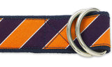 Scholastic Navy/Orange - D-Ring Belts