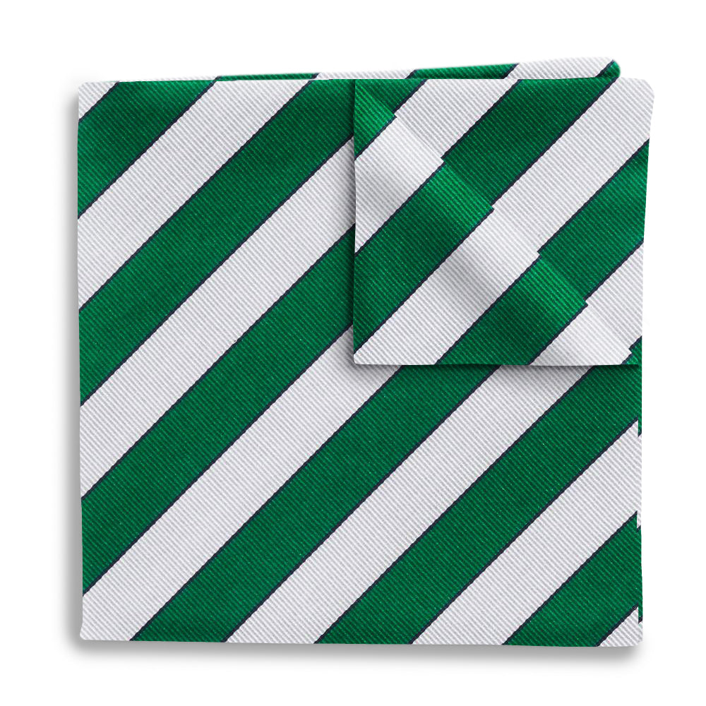 Scholastic Green/White - Pocket Squares