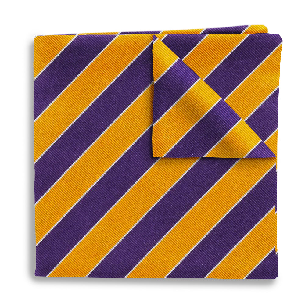 Scholastic Purple/Gold - Pocket Squares