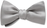Slate Grey Charmeuse - bow ties