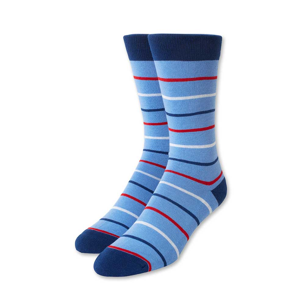 Slim Stripes Light Blue Socks