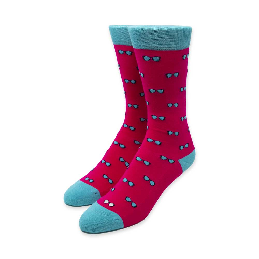 Spectacles Pink Socks