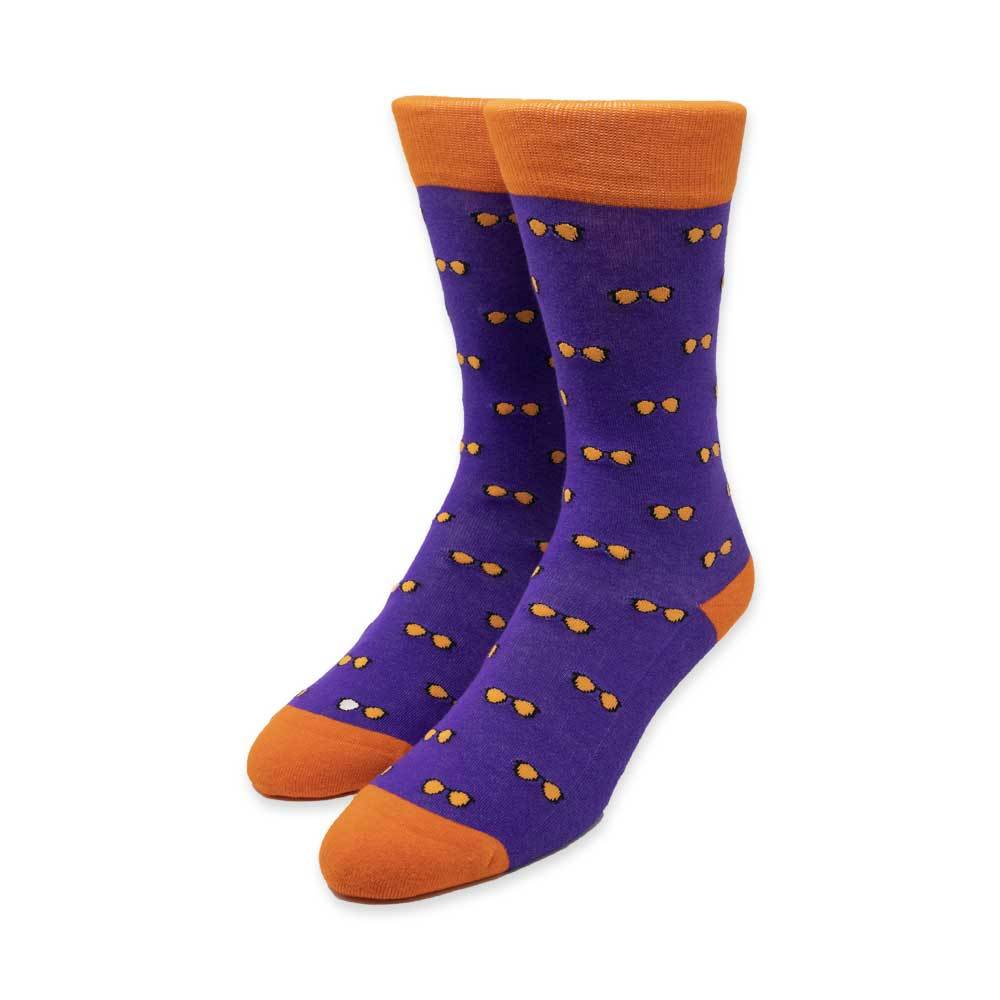 Spectacles Purple Socks