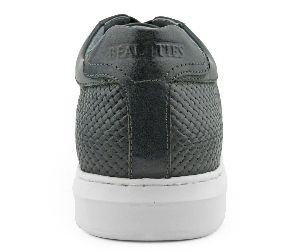 Stone Grey Leather Sneaker
