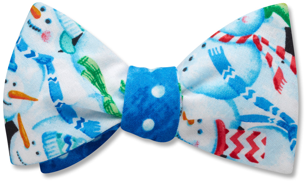 Snow Town/Snowball Polka Blue - bow ties