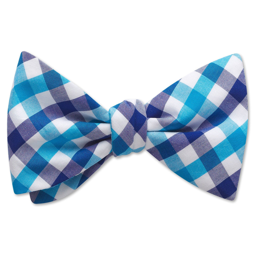 Visage Plaid Aqua/Blue - bow ties