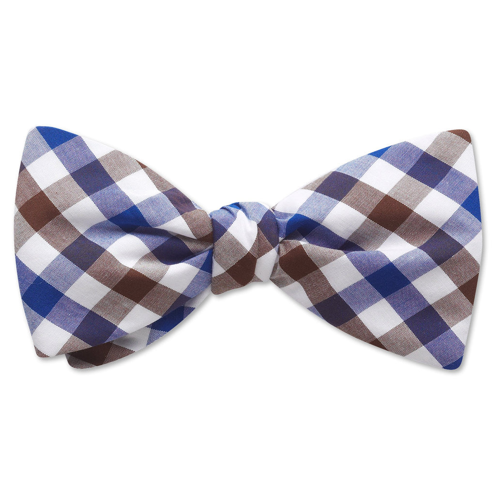 Visage Plaid Brown/Blue - bow ties