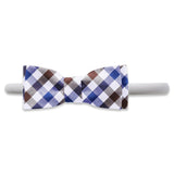 Visage Plaid Brown/Blue - Kids Hair Band
