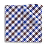 Visage Plaid Brown/Blue - Pocket Squares