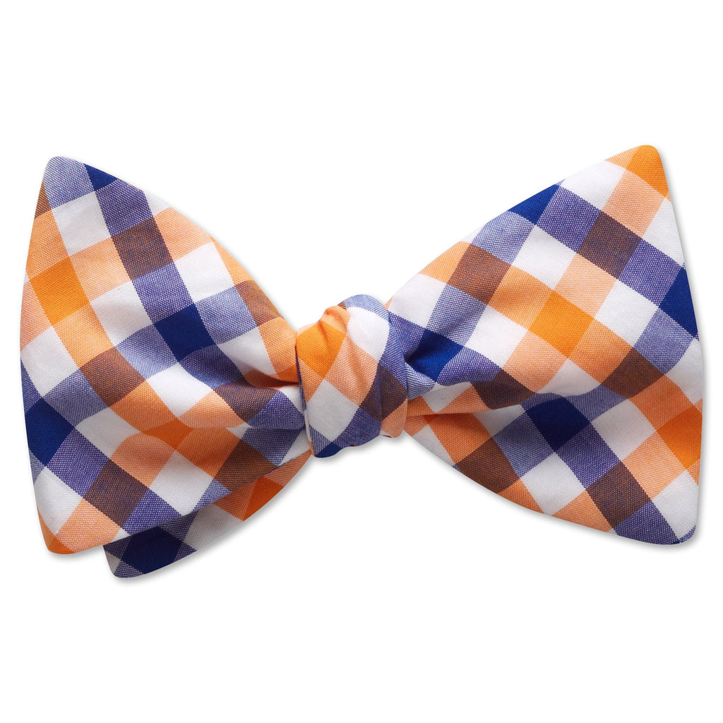 Visage Plaid Blue/Orange - bow ties