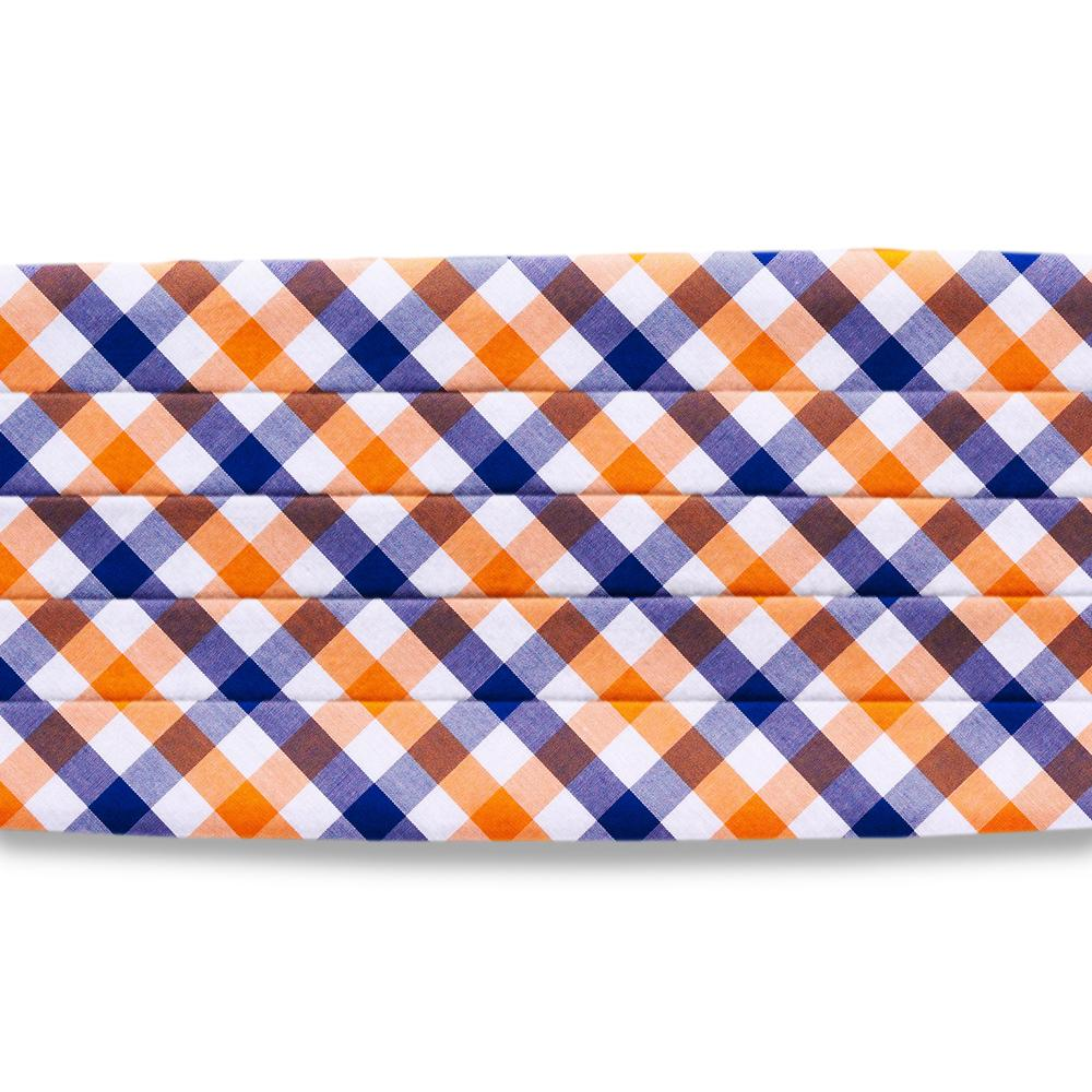Visage Plaid Blue/Orange Cummerbunds
