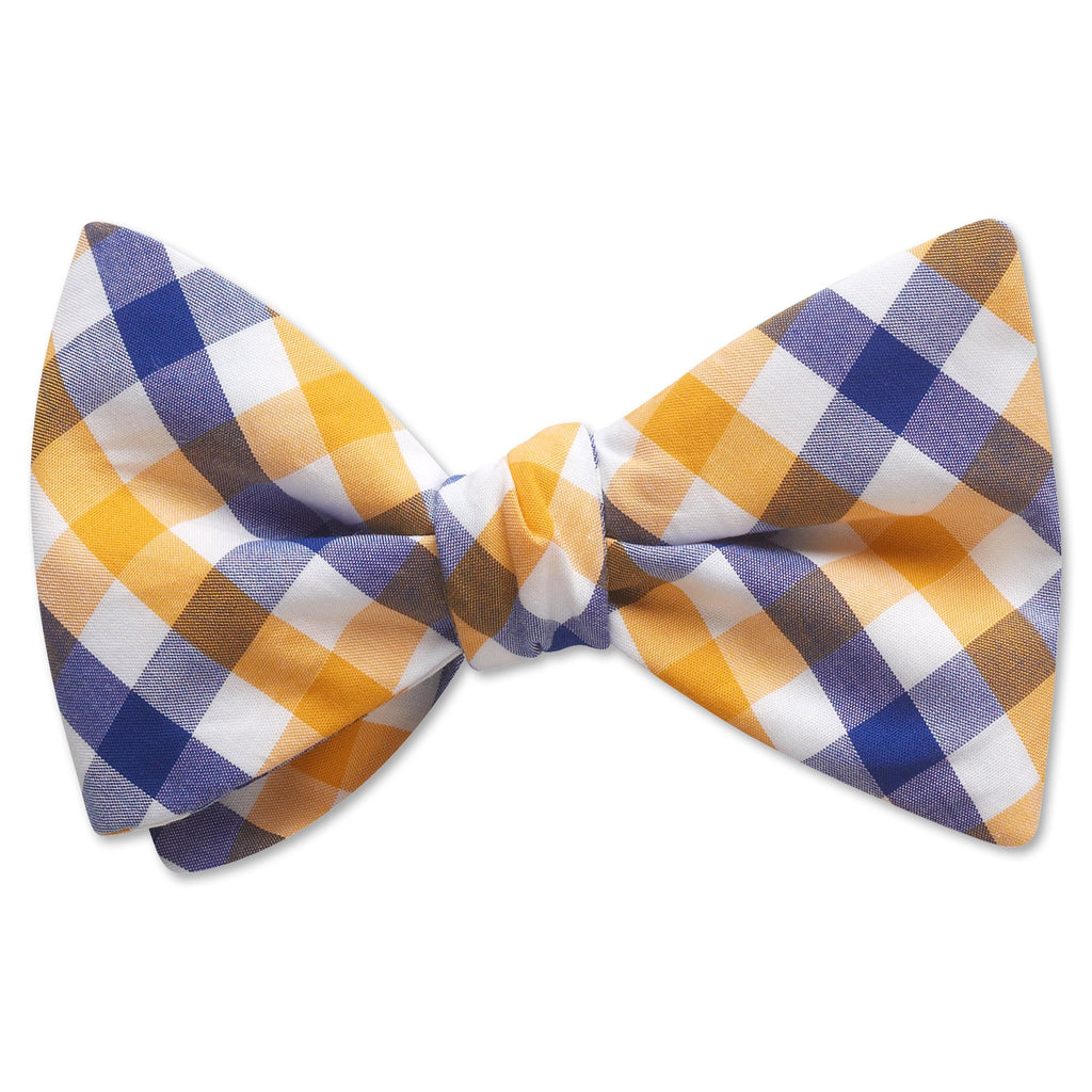 Visage Plaid Blue/Yellow - bow ties