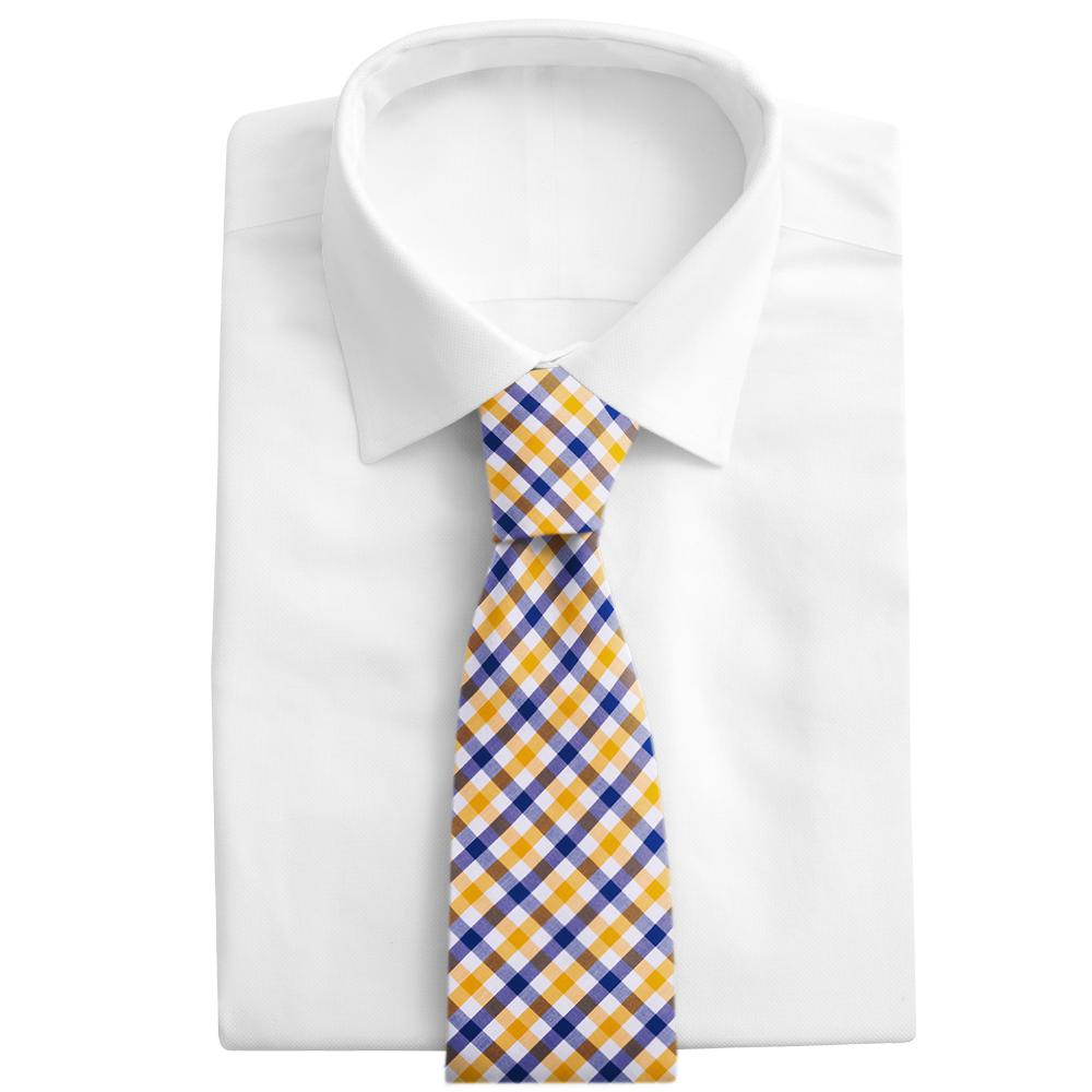 Visage Plaid Blue/Yellow Neckties