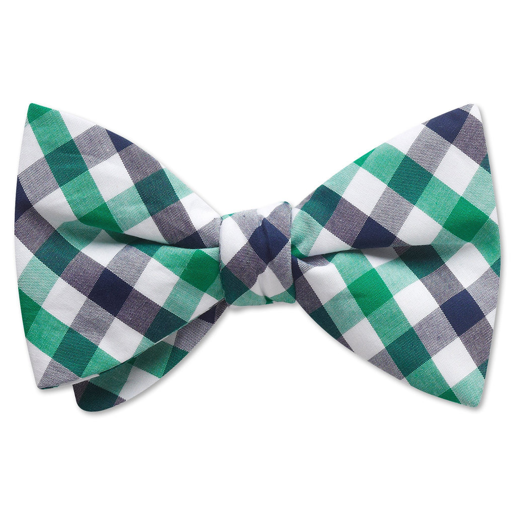 Visage Plaid Green/Navy - bow ties