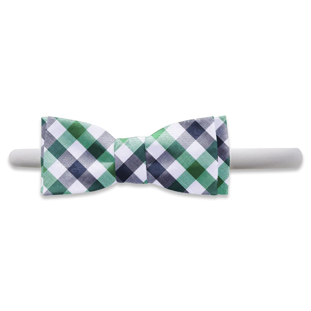 Visage Plaid Green/Navy - Kids Hair Band
