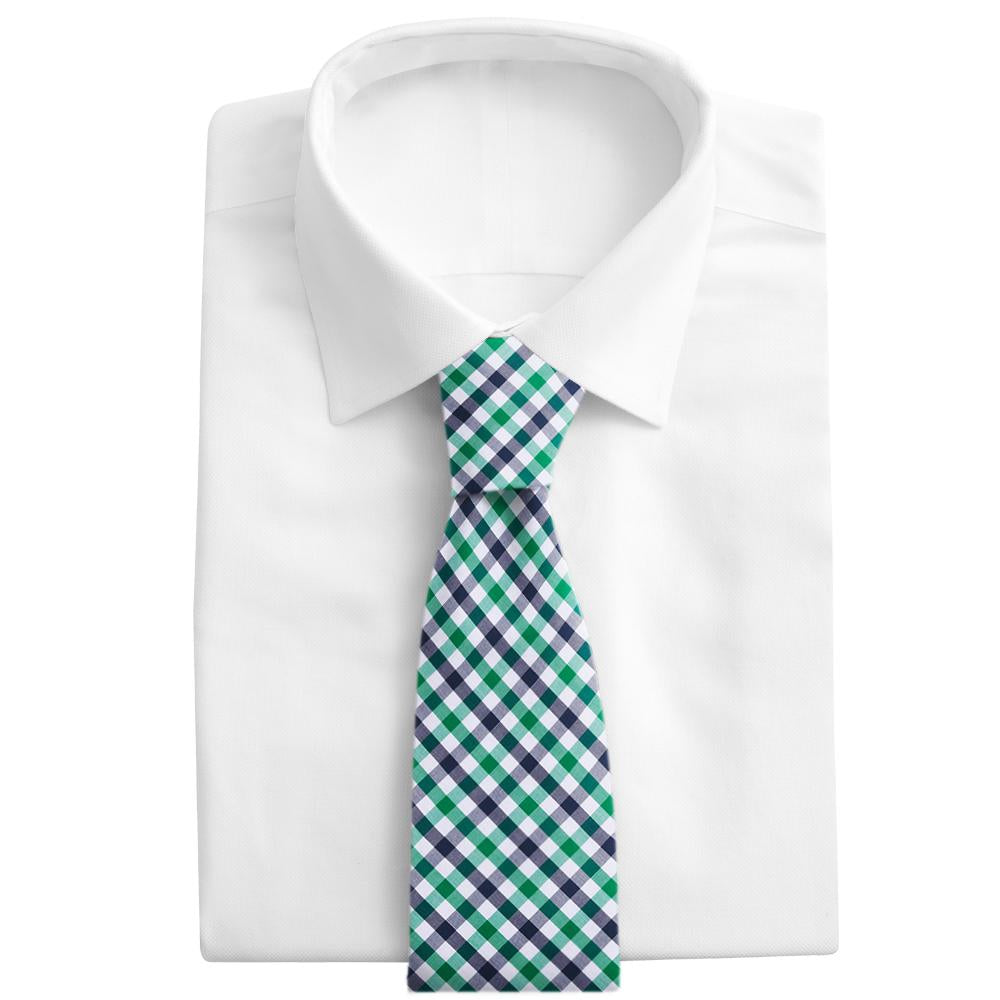Visage Plaid Green/Navy Neckties