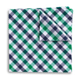 Visage Plaid Green/Navy - Pocket Squares