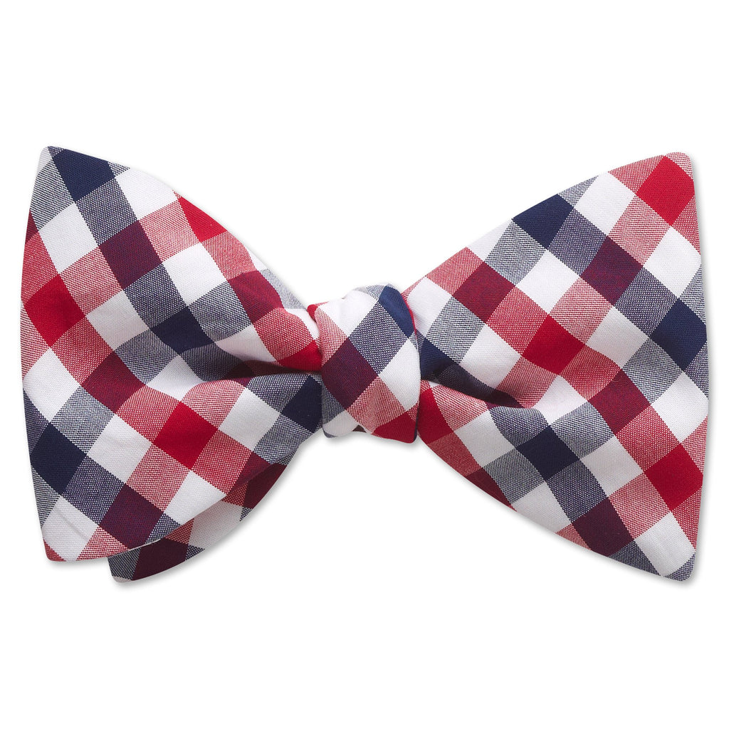 Visage Plaid Red/Blue - bow ties