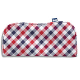 Visage Plaid Red/Blue Eyeglass Cases