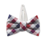 Visage Plaid Red/Blue Kids Hair Clips