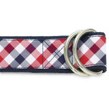 Visage Plaid Red/Blue D-Ring Belts