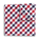 Visage Plaid Red/Blue Pocket Squares