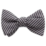 Visage Stripe Black - bow ties